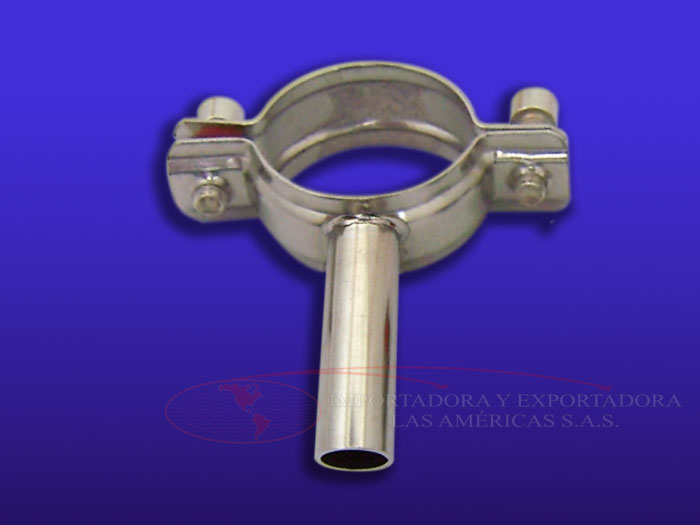 soporte tuberia redondo acero inoxidable 304 abrazadera